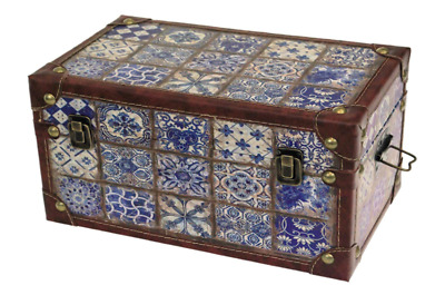 £55.99 • Buy Medium French Rustic Wooden Storage Box Trunk Chest Hinged Lid Home Decor New UK