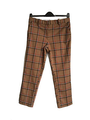 £1.80 • Buy Women's H & M Chinos Check Crop Trousers Size 14
