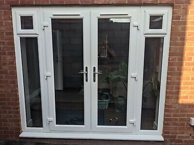 £499.99 • Buy Upvc Pvcu French Doors Sidelights White-used-external-exterior-patio-double