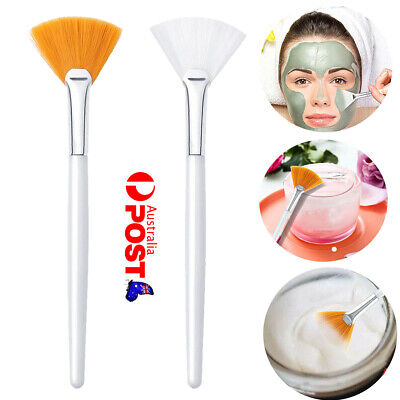 AU5.99 • Buy UP 10X Women Facial Brushes Fan Mask Brush Soft Brushes Cosmetic Makeup Tools