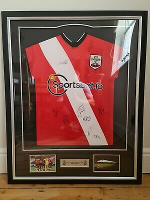 £138 • Buy Official Framed Southampton FC Signed Shirt 20/21 - Authenticity Certificate