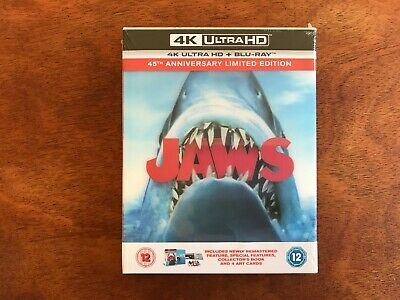 £59.95 • Buy Jaws 4K 45th Anniversary Zavvi Collector's Edition Steelbook. New & Sealed!
