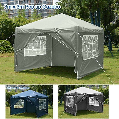 £79.99 • Buy 3 X 3m Gazebo Outdoor Marquee  Pop Up Canopy Wedding Garden Party Tent  Pavilion