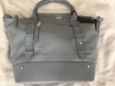 £35 • Buy Pre-owned New M&s Autograph Womens Large Pale Blue Leather Hold-all Bag £119