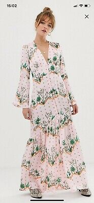 £42.50 • Buy BNWT Glamourous Pink Premium Maxi Dress With Buttoned Front Island Print. Size 6