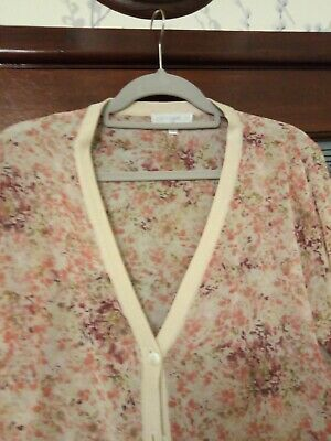 £4.99 • Buy Cotswold Collection Ladies Peach Sheer Cardigan Size 14