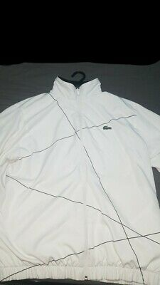 £40 • Buy Mens White Lacoste Tracksuit Top Excellent Condition