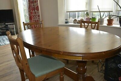 £18 • Buy Ducal Victoria Pine Extendable Dining Table And Chairs