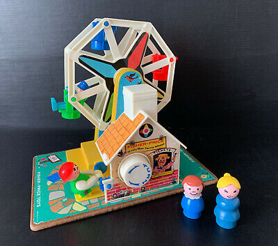 £10 • Buy Vintage Fisher Price Ferris Wheel Musical With 2 Figures Fairground Toy