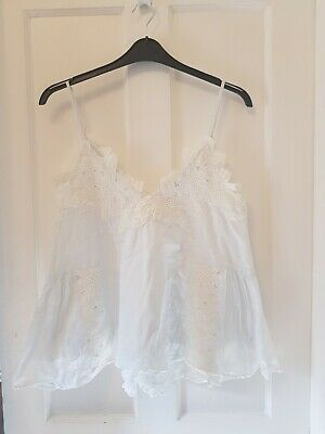 £4 • Buy Womens Pale Blue Strappy Top Size 8 By Hm