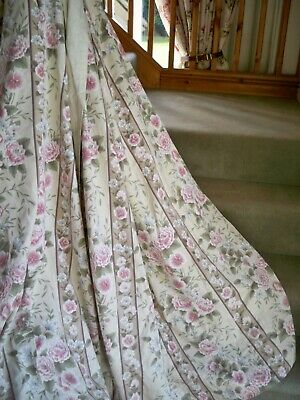 £65 • Buy Sanderson Style   Curtains  Roses , Peony, Leaves   74  L X 68  W   Each One--