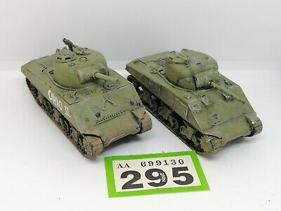 £16 • Buy Painted 1/72 Scale M4A3 105mm Sherman Tank Plastic By Armourfast X2