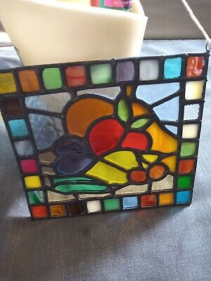 £10.50 • Buy Vintage Leaded Stained Glass Window Multiple Colours And Glass Types