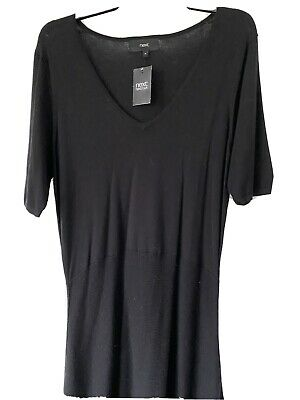 £7 • Buy Next Black Knitted Dress Size 16 NEW