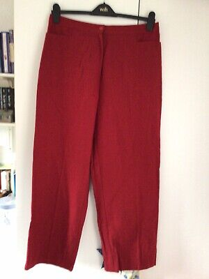 £7.50 • Buy PENNY PLAIN RED Linen Cotton Mix TROUSERS SIZE 16 New,no Tags