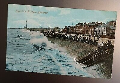 £0.99 • Buy Blackpool. Lancashire. High Tide. Colour Postcard. Posted 1917.