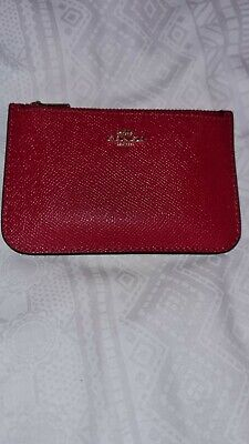 £30 • Buy Coach Genuine Womens Zip Card Holder Wallet Pouch Red