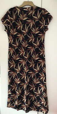 £14.50 • Buy PENNY PLAIN Brown Cotton Ethnic Print Dress Size 16 NEW No Tags