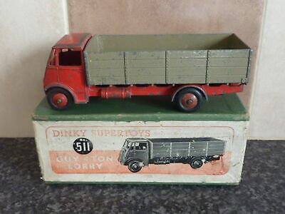£64.95 • Buy VINTAGE DINKY SUPER TOYS No.511 GUY 4 TON LORRY RED/FAWN IN ORIGINAL BOX