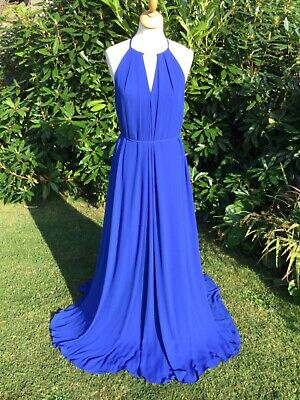 £25 • Buy Stunning Electric Blue Ted Baker Evening Dress Size 2 (12/14)