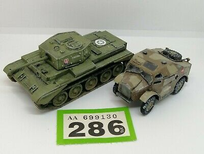 £12 • Buy Painted 1/72 Scale Cromwell Tank Plastic Airfix W/ British Jeep Vehicle