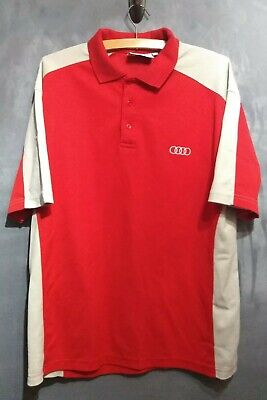 £9.99 • Buy Mens Audi Red And Grey Short Sleeve Polo Shirt XL Extra Large - Free UK Postage