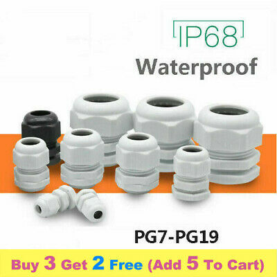 £1.79 • Buy IP68 3-50mm Waterproof Junction Box Cable Wire Connector Gland PG7-PG19