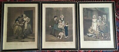 £22 • Buy SET OF 3  FRAMED CRIES OF LONDON  14 In 3/4 X 19 In INCLUDING FRAME