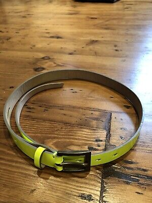 £15 • Buy Paul Smith Belt In Patent Leather FLUORESCENT Yellow SIZE M Brass