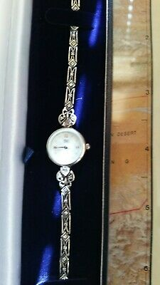 £46 • Buy  Silver 925 ,Carvel Lady Quartz Watch, New Battery, Good Working Order
