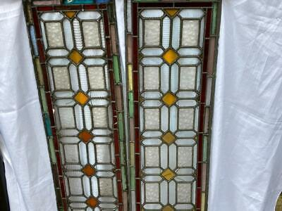 £129 • Buy Antique Lead Stained Glass Windows - Pair