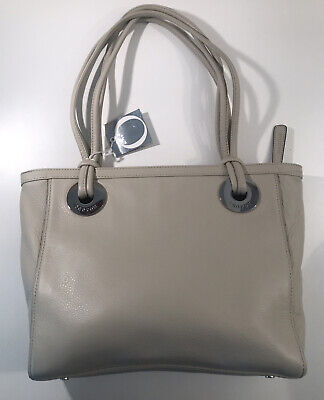 AU150 • Buy Oroton Ivory  Leather Tote Handbag / Bag RRP $445. Excellent Condition With Tags