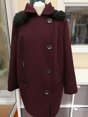 £25 • Buy BNWT F&F - Ladies Size 20 Warm Autumn Winter Mid-Length Coat Excellent Condition
