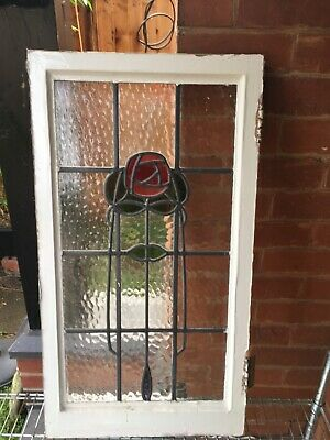 £75 • Buy Original English Edwardian Rose Design Stained Glass Window Collection Only Ng2
