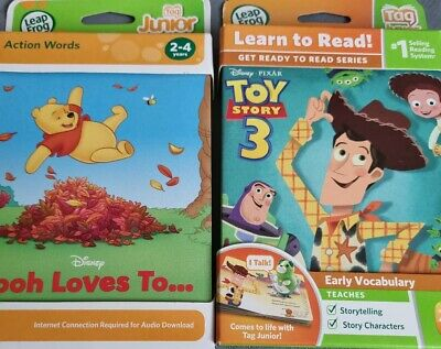 £7.99 • Buy LeapFrog Tag Junior Books Disney Winnie The Pooh - Pooh Loves To... & Toy Story3