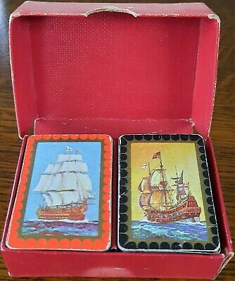 £9.95 • Buy Vintage Sir Francis Drake Admiral Nelson 2 Sets Miniature Patience Playing Cards