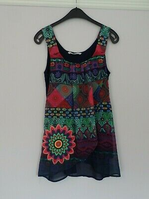 £5.99 • Buy Sleeveless Multicoloured Top From Desigual, Size M