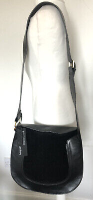 £29.99 • Buy M&S Autograph Black Leather And Suede Saddle Bag. RRP £99. Brand New With Tags