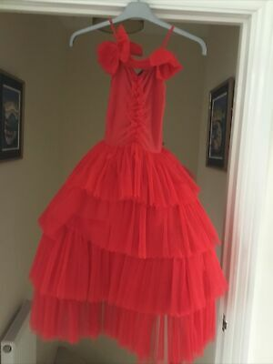 £0.99 • Buy Girls Red Ball Gown Dress, Michel Klein Pour La Redoute, Age 8
