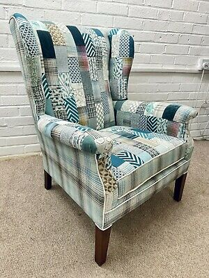 £550 • Buy Parker Knoll Wing Back Chair Model 711 Newly Upholstered In Patchwork Design