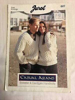 £1.50 • Buy His And Hers Sweaters And Cardigans  Knitting Pattern Booklet, In Aran