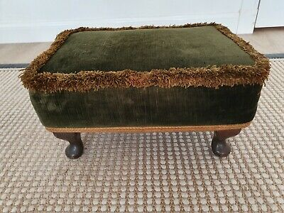£14.95 • Buy SHERBOURNE Green Velvet Vintage Footstool. Upcycle Upholstery Project