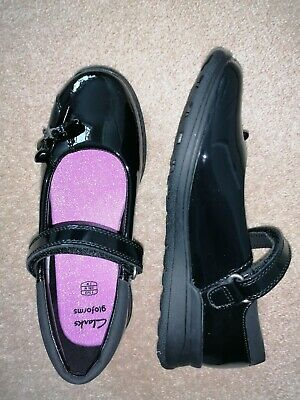£24.99 • Buy Clarks Gloforms Girl's Strappy Black School Shoes UK 1.5 With Gloform Toy