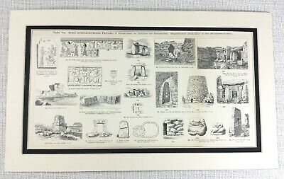 £44 • Buy 1897 Antique Print Ancient Egyptian Viking Artifacts Archaeology Architecture