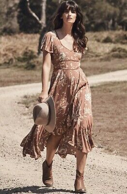 AU111.10 • Buy The Spell & The Gypsy Collective - Floral Rosa Garden Party Dress - Size XS/8