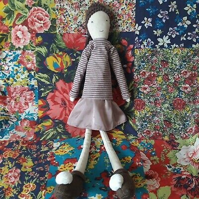 £10 • Buy Mamas And Papas Daytime Doll Soft Toy Ragdoll Plush Dolly Brown & Taupe