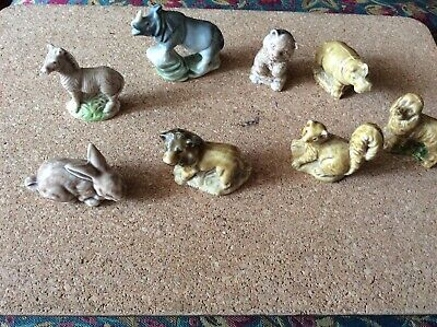 £4.99 • Buy Wade Whimsies X  8 . Mixed Lot,zebra,lion,squirrel, Dog,rabbit & More
