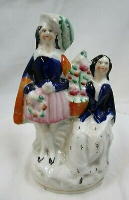 £12 • Buy Staffordshire Flatback, Man And Woman With Decorated Tree