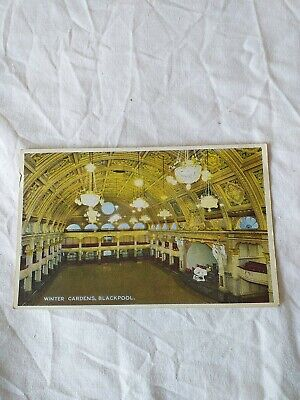 £0.99 • Buy Old Postcard Winter Garden Blackpool  Stamp And Writing On Card