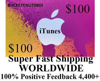 AU156.69 • Buy $100 APPLE US ITUNES APP STORE CARD Gift Certificate FAST Worldwide Shipping